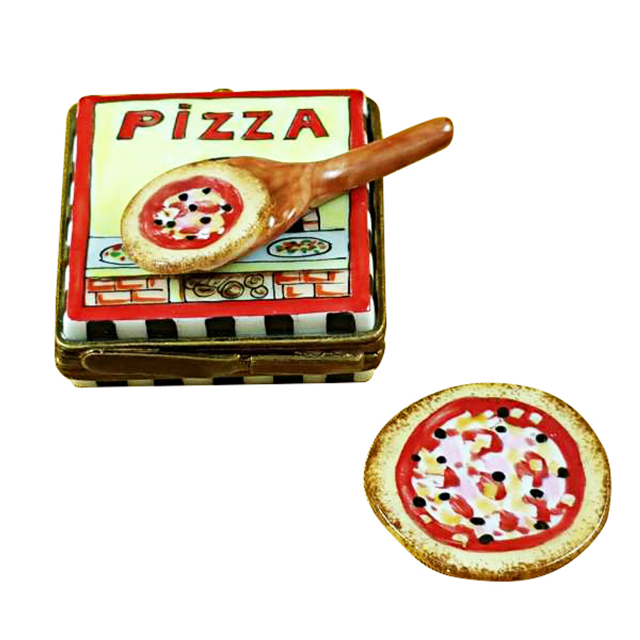 Pizza Box W/Pizza Rochard Limoges Box