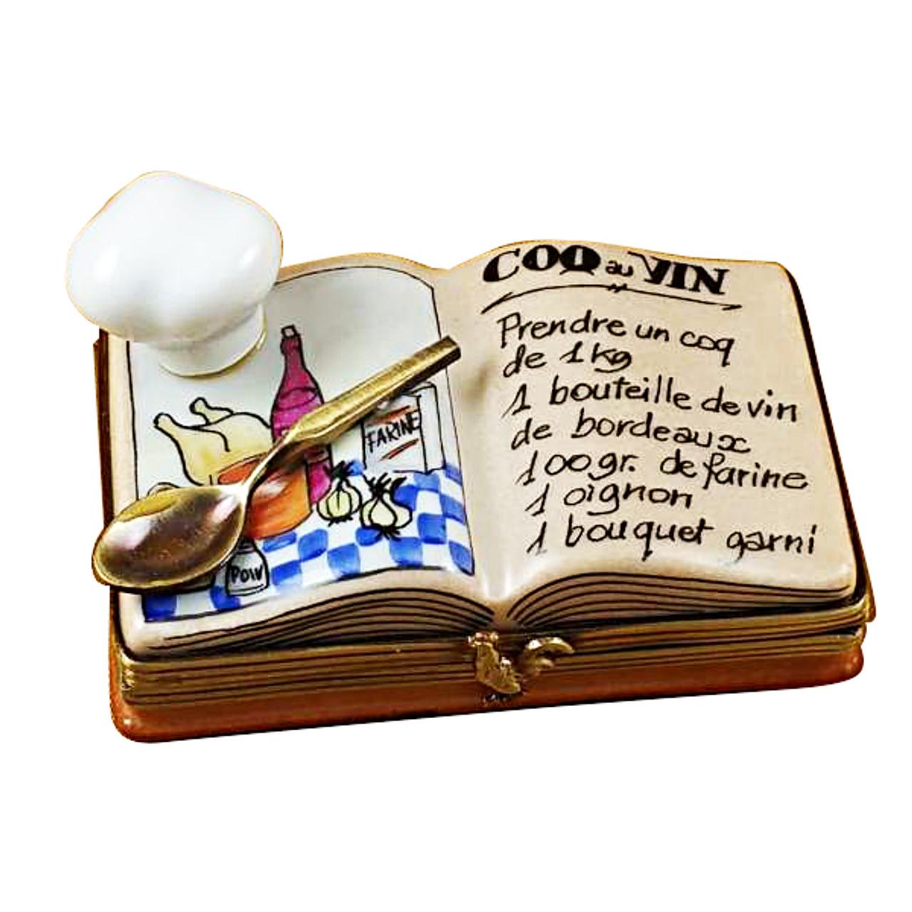 Cookbook W/Chef Hat Rochard Limoges Box