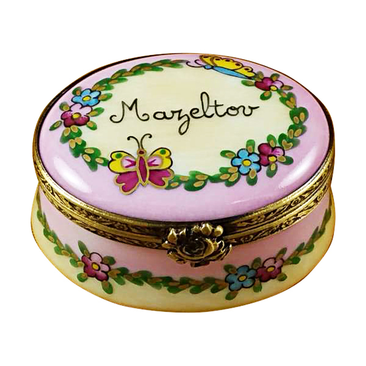 Oval Box - Mazeltov Rochard Limoges Box