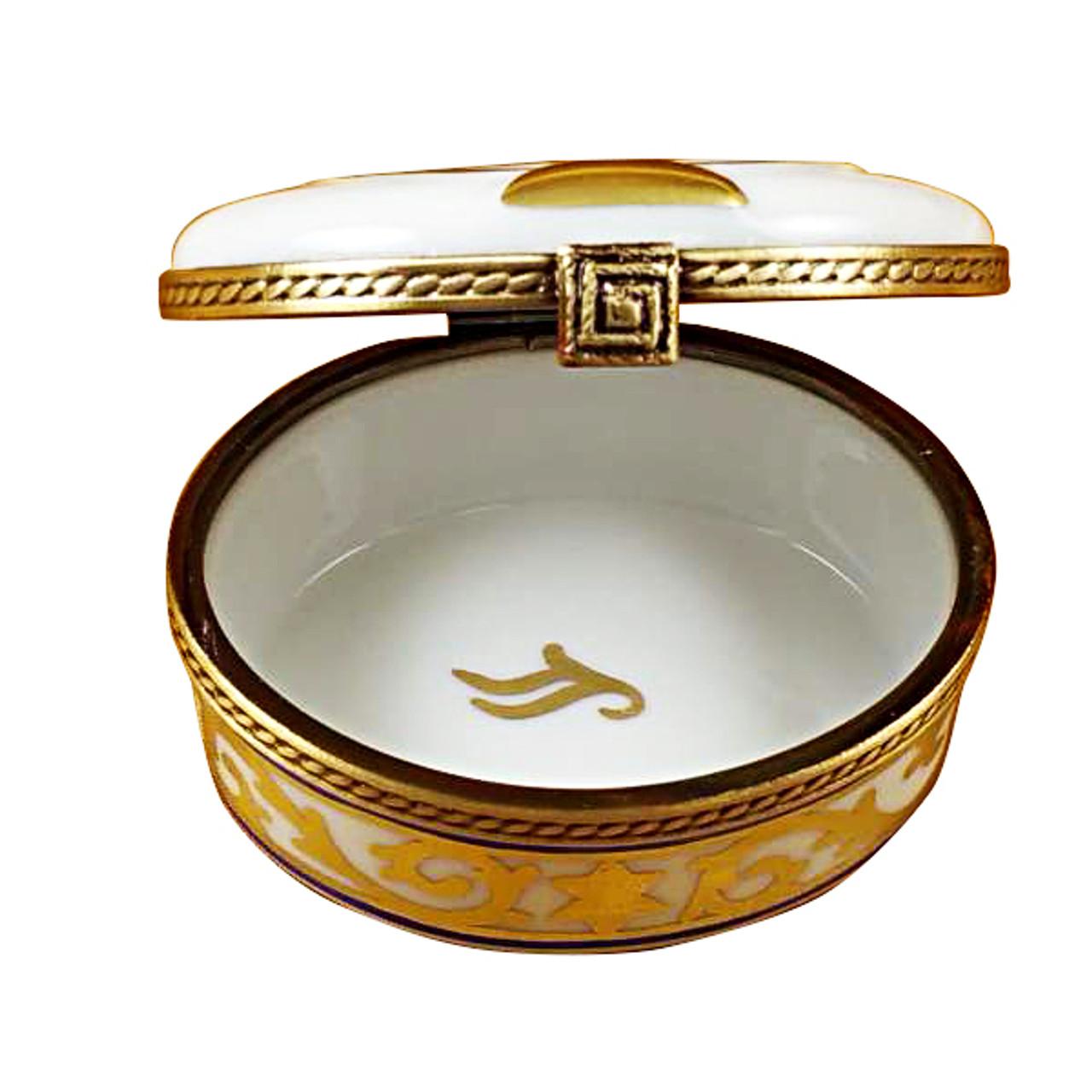 Menorah-White Rochard Limoges Box