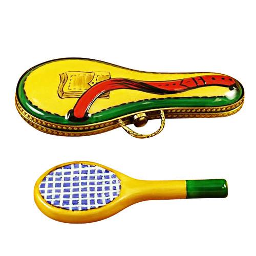 Tennis Racquet W/Case Rochard Limoges Box