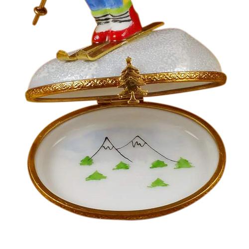 Skier On Mountain Rochard Limoges Box