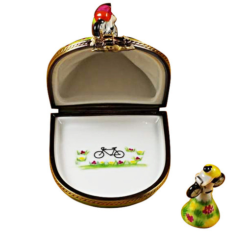 Hill Climbing Bicycles Rochard Limoges Box