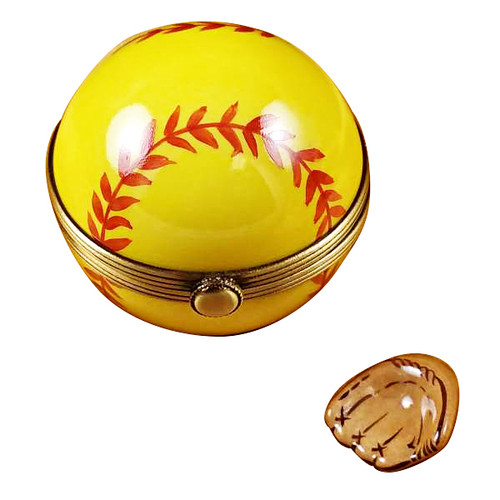 Softball With Removable Glove Rochard Limoges Box