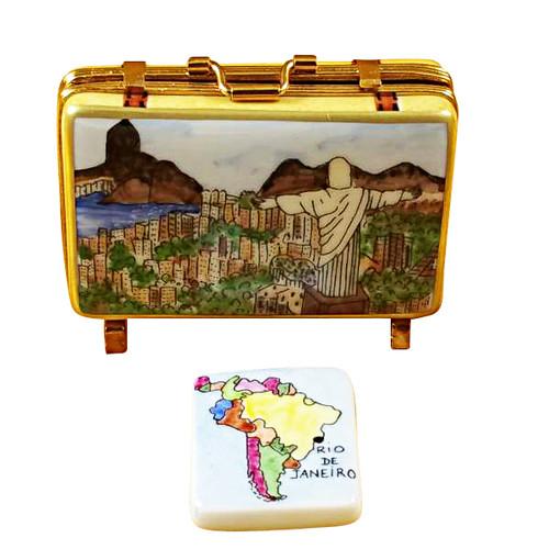 Rio Suitcase Rochard Limoges Box