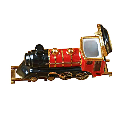 Locomotive/Train On Brass Track Rochard Limoges Box