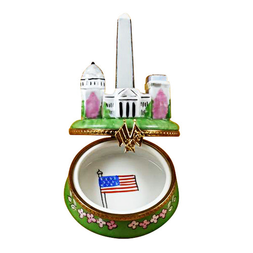 Washington Monuments Rochard Limoges Box