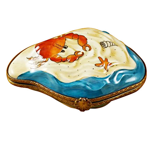 Oyster W/Mermaid Rochard Limoges Box