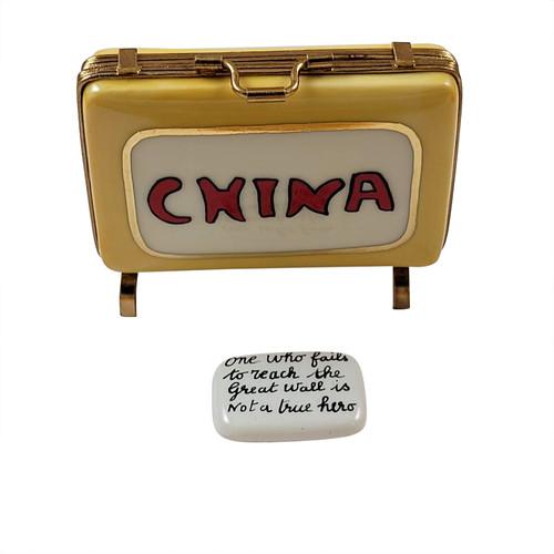 China Suitcase Rochard Limoges Box