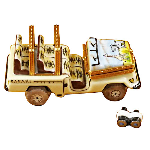 Safari Vehicle With Binoculars Rochard Limoges Box