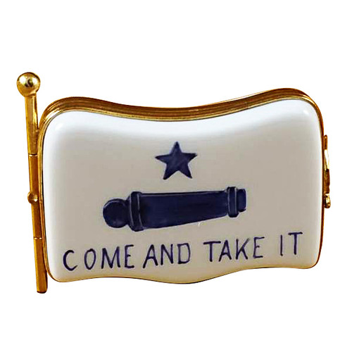 Come And Take It Flag Rochard Limoges Box RT239-I