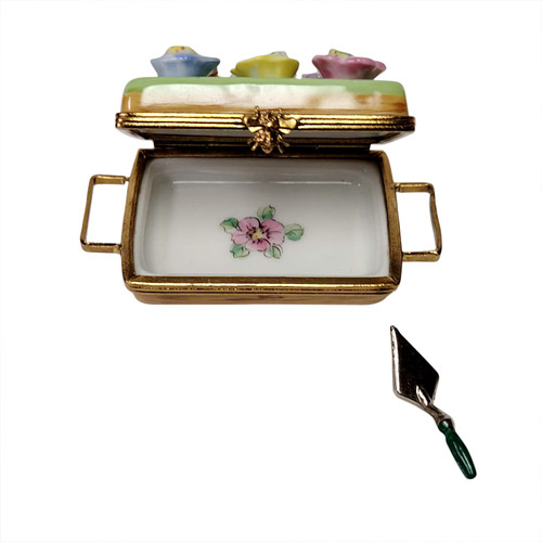 Flower Box With Spade Limoges Box RY018-K