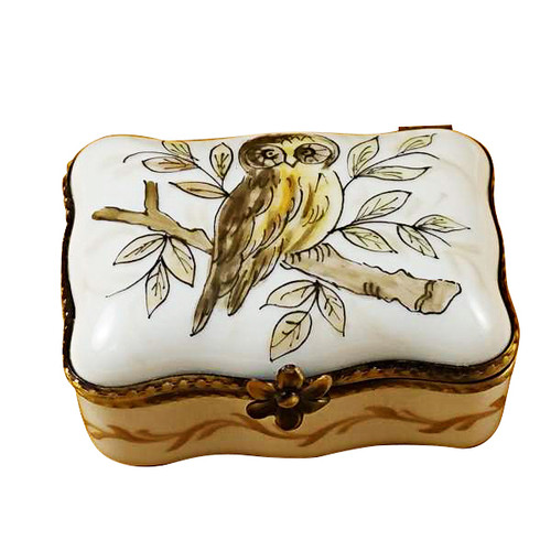 Limoges Imports Owl Rectangle Box Limoges Box