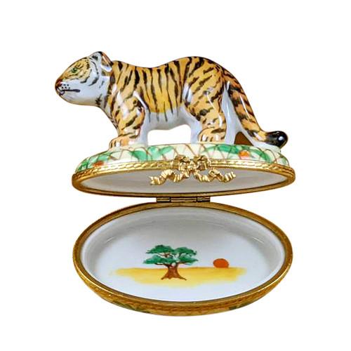 Limoges Imports Tiger Limoges Box