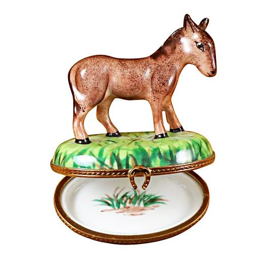 Limoges Imports Standing Donkey Limoges Box