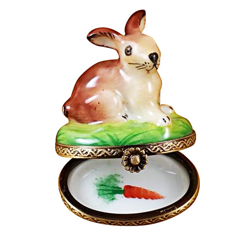 Limoges Imports Small Bunny Limoges Box