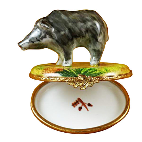 Limoges Imports Wild Boar Limoges Box