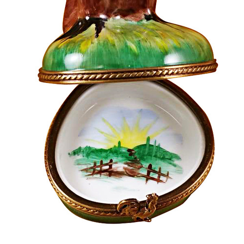 Limoges Imports Tall Rooster Limoges Box