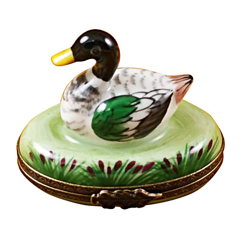 Limoges Imports Mallard Duck Limoges Box