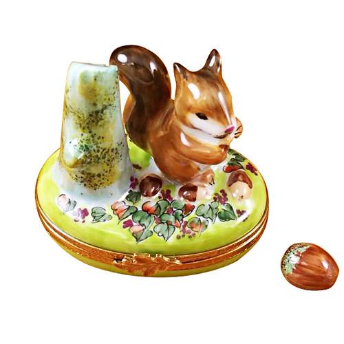 Limoges Imports Squirrel W/Acorn Limoges Box