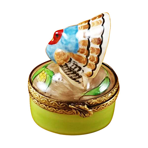 Limoges Imports Small Turkey Limoges Box