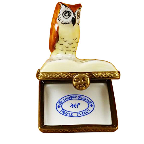 Limoges Imports Mini Owl On Book Limoges Box