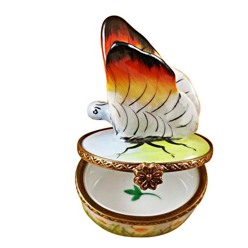Limoges Imports White Butterfly Limoges Box