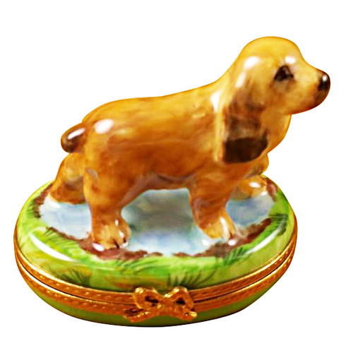 Limoges Imports Cocker Spaniel Limoges Box