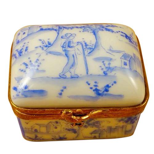 Limoges Imports Blue Toille Box Limoges Box