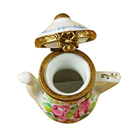Limoges Imports Flowery Tea Pot Limoges Box
