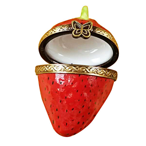 Limoges Imports Mini Strawberry Limoges Box