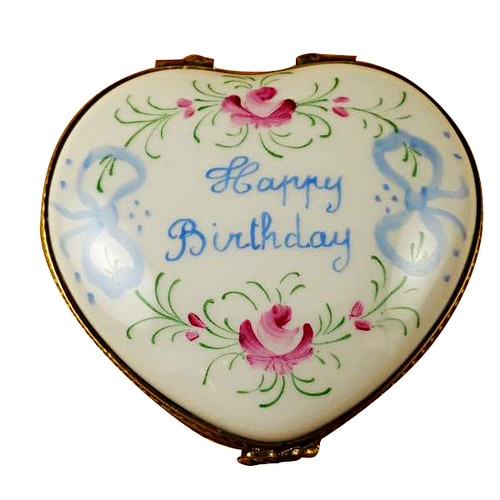 Limoges Imports Happy Birthday Heart-50Th Limoges Box