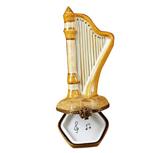 Limoges Imports Large Harp Limoges Box