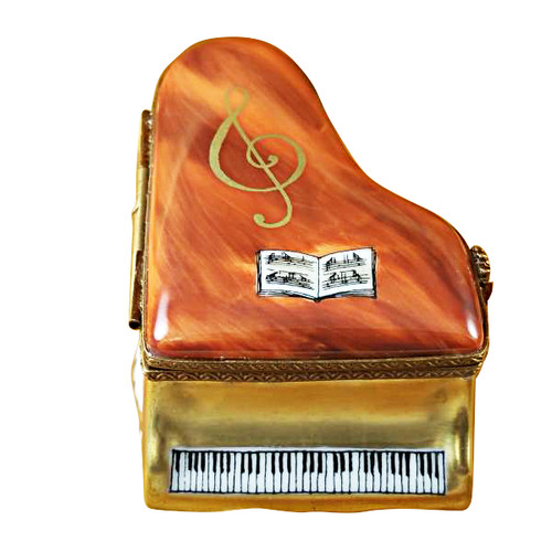Limoges Imports Medium Brown Piano Limoges Box