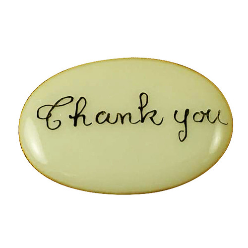 Limoges Imports Thank You  Filler - Price Code Is For Two Pieces Limoges Box