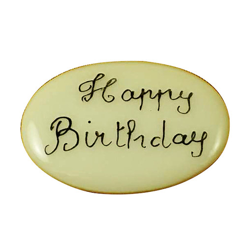 Limoges Imports Happy Birthday Filler - Price Code Is For Two Pieces Limoges Box