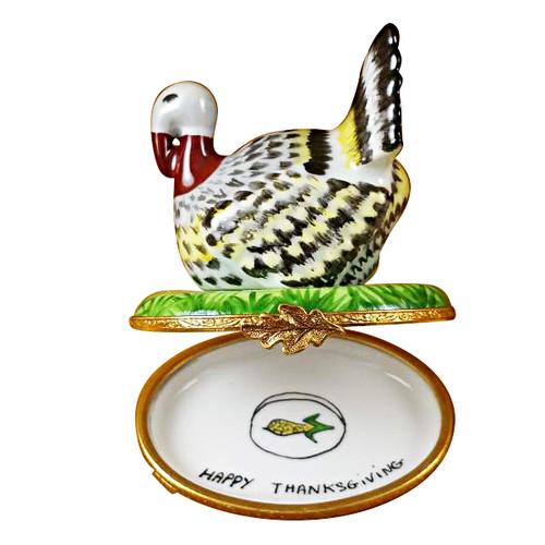 Limoges Imports Proud Turkey Limoges Box