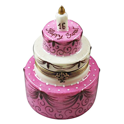 Incredible Sweet Sixteen Birthday Cake Limoges Box Limoges Imports Personalised Birthday Cards Akebfashionlily Jamesorg