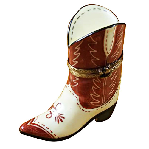 Limoges Imports Cowboy Boot Limoges Box