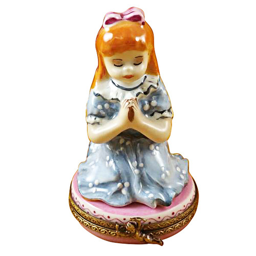 Limoges Imports Red-Haired Girl Praying Limoges Box