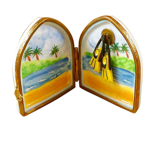 Limoges Imports Divers Flippers In Window Limoges Box