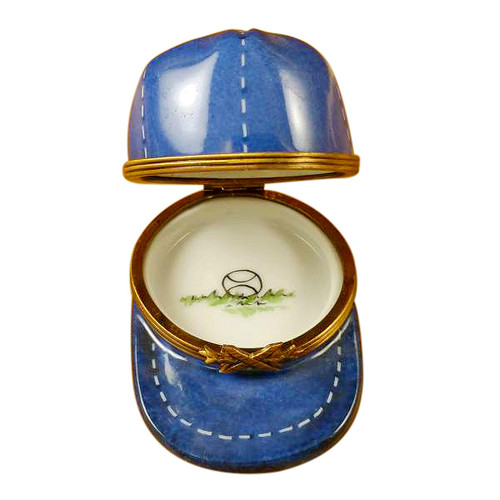 Limoges Imports Blue Baseball Hat Limoges Box