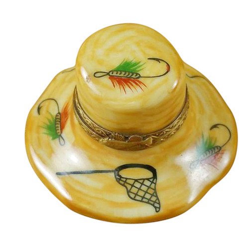 Limoges Imports Fishing Hat Limoges Box