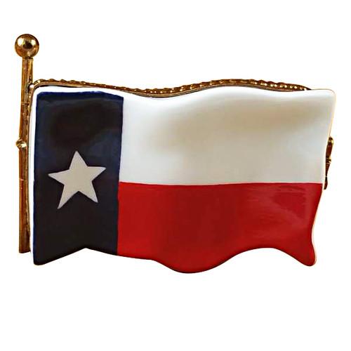 Limoges Imports Texas Flag Limoges Box TT029-G