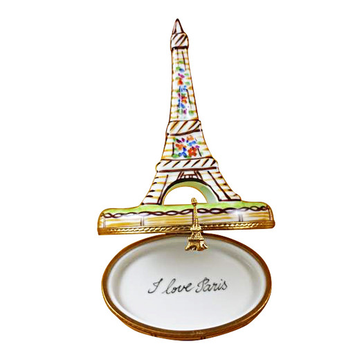 BROWN EIFFEL TOWER Limoges Box TT033-J
