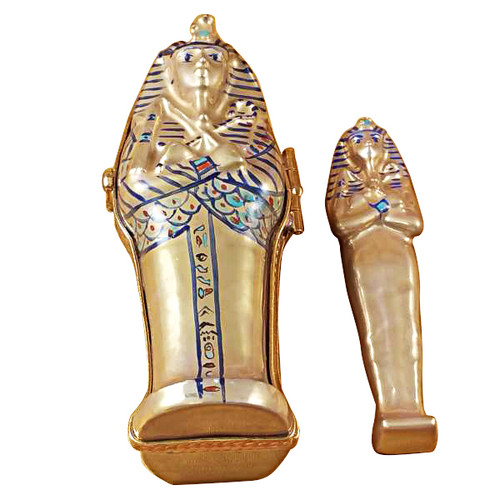 Limoges Imports Sarcophagus W/Mummy Limoges Box
