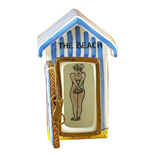 Limoges Imports Beach Changing Hut-English Limoges Box