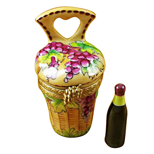Limoges Imports Wine Carrier W/Bottle Limoges Box