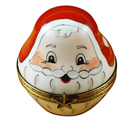 Limoges Imports 3 Old World Stacking Santas Limoges Box