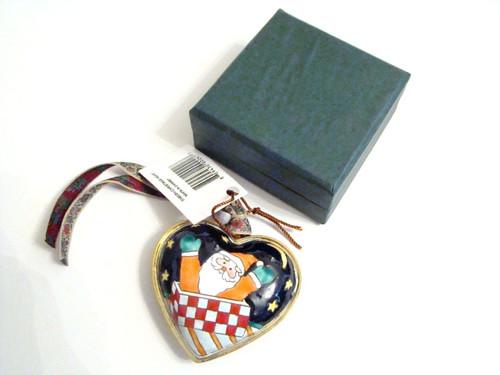 Kelvin Chen Santa Heart Enamel Ornament EN503H
